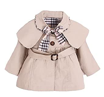 Amazon.com: MNLYBABY Kids Baby Girl Spring Autumn Trench ...
