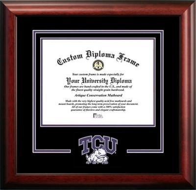 Texas Christian University Mascot Diploma Frame by Diploma Frame Deals