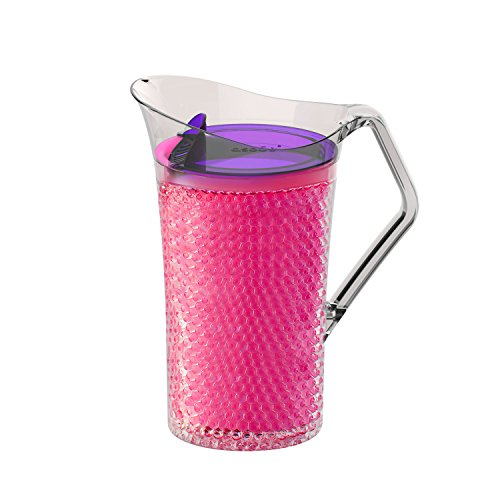 r with Freezable Double Walls for Water Beer or Tea Bpa Free 50 Ounce (Pink) ()