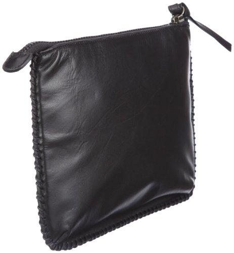 Frankie's Garage Pad Garage SE101026-010 - Bolsa para portátil de cuero unisex Negro