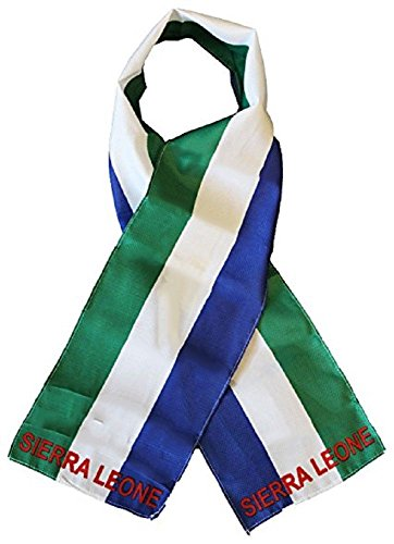 Sierra Womens Scarf - Sierra Leone Country Lightweight Flag Printed Knitted Style Scarf 8