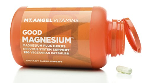 Mt. Angel Vitamins - Good Magnesium, Magnesium Plus Herbs Nervous System Support (250 Vegetarian Capsules)