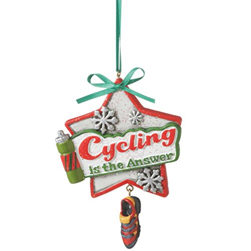 Cycling is the Answer Biking Ornament (Cycling Christmas Ornament compare prices)