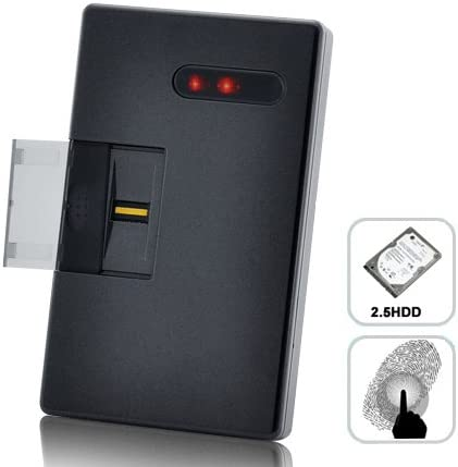 Huella Dactilar Seguridad Cerrada, Usb 6,35.Cm Sata Caja de Disco Duro Fhd de 001: Amazon.es: Informática