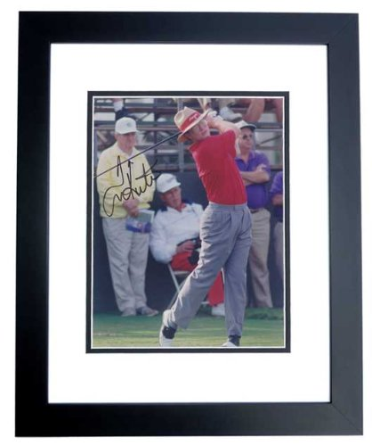 (Tom Kite Signed - Autographed Golf 8x10 inch Photo BLACK CUSTOM FRAME)