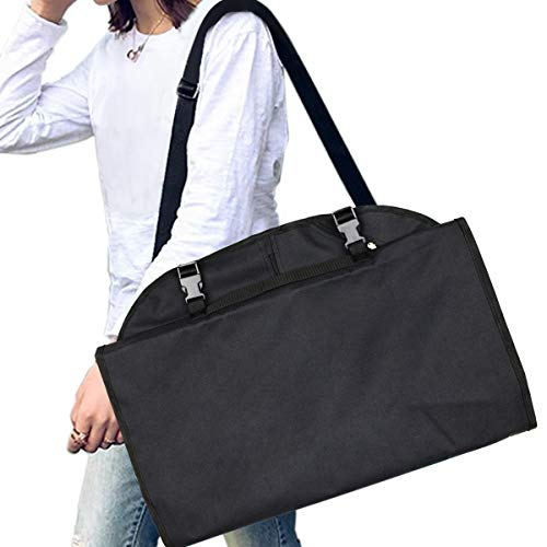 Cuddly Nest 44 inches Tri-fold Garment Bag with Shoulder Strap and See Through Window Carry on Business Travel Suit Bag 4 Tri Fold Garment Bag