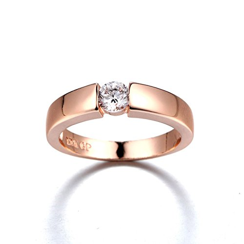 (Couple Rings Simple Wild Knuckle Jewelery Wedding Party Accessories (Rose Gold, 5))