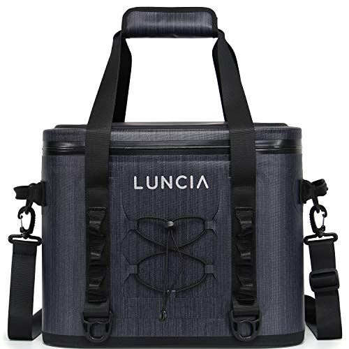LUNCIA 30-Can Soft Side Cooler, 18L Leak-Proof Insulated Cooler Bag for Picnic Hiking Camping Beach Park Day Trips