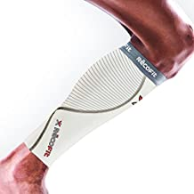 RecoFit Calf Compression Sleeve, White, Medium