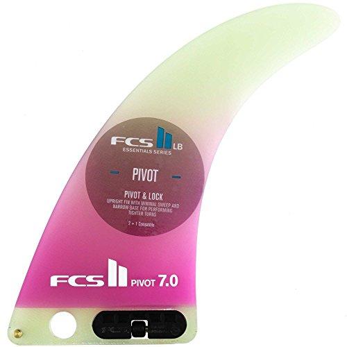 FCS II Pivot PG Longboard Fin - Performance Glass single fin - Purple Fade