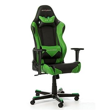DXRacer - Silla Racing rf0 Gaming Gaming Presidente Negro/Verde: Amazon.es: Hogar