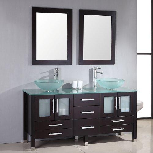 63 Inch Espresso Wood & Gl Double Sink Bathroom Vanity Set ...  Inch Double Sink Bathroom Vanity on double sink bathroom floor plans, double sink vanity with makeup area, 48 double sink vanity, double sink bathroom designs, double sink plumbing, double sink dresser, double sink vanity set, double vanity sinks and countertops, small double sink vanity, double sink bathroom renovation, double sink wet bar, glass bowl sinks and vanity, double sink bathroom mirrors, double sink granite, double sink glass vanity, diy double sink vanity, double sink vanity top, double sink bathroom decorating ideas, double sink bathroom furniture, double bathroom sink tops,