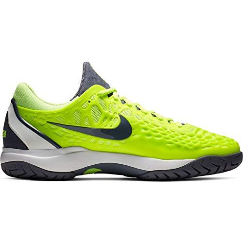 Nike Men's Zoom Cage 3 HC (11 D US, Volt Glow/Light Carbon/White) (Nike Shoes Air Cage Court)