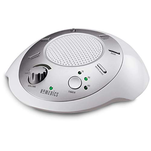 HoMedics White Noise Sound Machine | Portable Sleep Therapy for Home, Office, Baby & Travel | 6 Relaxing & Soothing…