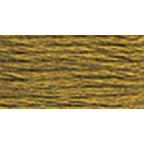 DMC 117-831 6 Strand Embroidery Cotton Floss, Medium Golden Olive, - Six Floss Cotton Strand