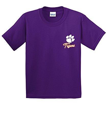 NCAA Clemson Tigers Girls Cheer Loud Short Sleeve Cotton T-Shirt, Youth Large,Purple ()