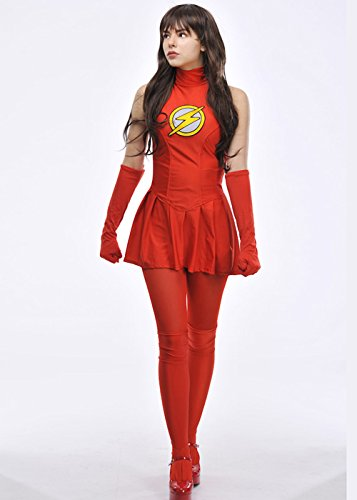 Magic Box Superhero para Mujer El Traje de Destello XS (UK6 ...