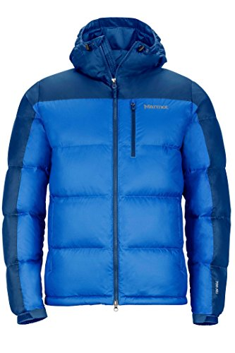Marmot Men's Guides Down Hoody Winter Puffer Jacket, Fill Power 700, Cobalt Blue/Blue Night, Large (Large Jacket Men Down)
