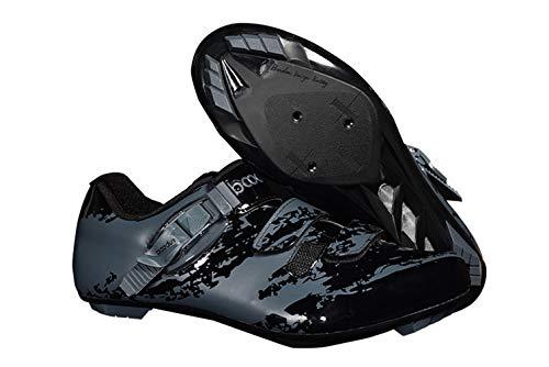 Mens Elite Racing Bike Road Shoes Velcro Anti-Collision Toe 12 US Black