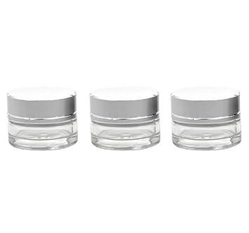 e4e1225c46d2 Amazon.com : 19 PCS Empty Clear Glass Jars Pots 5G Refillable ...