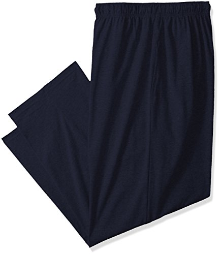 Fruit of the Loom Men's Extended Sizes Jersey Knit Sleep Pant, Navy, ()