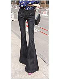 aee34e28567 Women s Vintage Curvy Denim Bell Bottom Jeans Pants Trousers