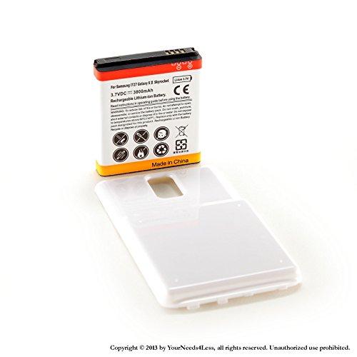 ded battery for Samsung Galaxy S II 2 Skyrocket i727 AT&T + White cover (Skyrocket Extended Battery)
