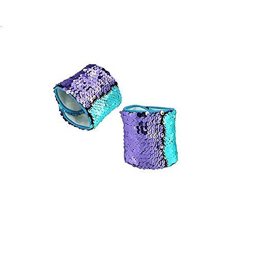 Mermaid Bracelet With Reversible Sequins and Velvet Lining(2 Pack)