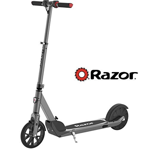 "Razor E Prime Electric Scooter - Up to 15MPH, 8"" Airless Flat-free Tires, Rear Wheel Drive, 250W Brushless Hub Motor, Super Lightweight 21lbs, Anti-Rattle, Aluminum Folding Electric Scooter for Adults"