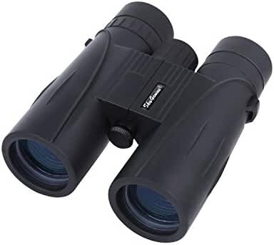8x42 Binoculars For Bird Watching w/BAK4 Prism/ Fully Multi Coated Lens,Powerful Compact Binoculars for Stargazing,Hunting,Sightseeing With Wide View, w/Carrying Case Strap Clean Cloth Lens Cap