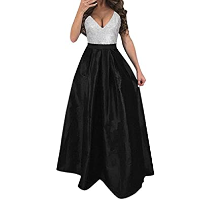 UOFOCO Prom Dress for Women Party Ball Formal Wedding Bridesmaid Long Evening
