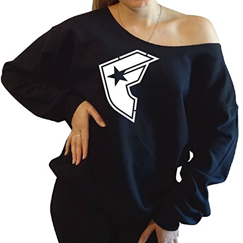 Famous Stars And Straps Slouchy Oversized Sweatshirt Large, Black