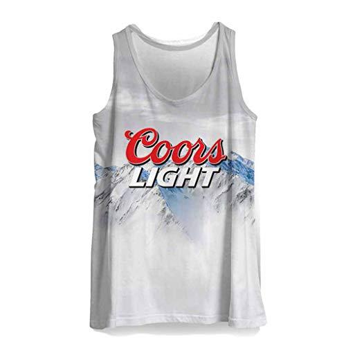 Men Coors Light Blue Beer Tank Top M