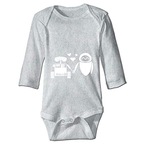 Wall E and Eve Onesies Long Sleeve Home Outfit for Baby Boys Girls