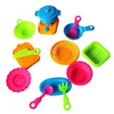 eroute66 Toy Pots and Pans Kitchen Accessories Durable and Safe Pretend Play Cookware