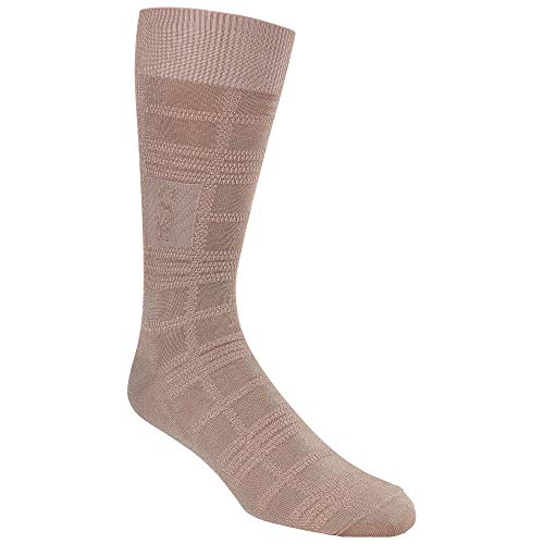 - STACY ADAMS Men's Gemstone Logo Plaid Crew Dress Sock (1 Pair), Misty Rose