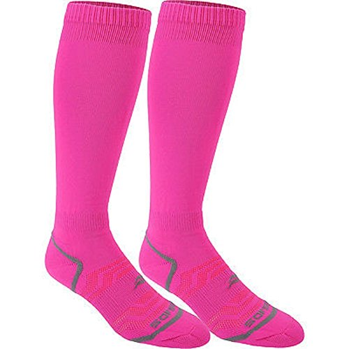 Sof Sole Unisex Adult and Youth All Sport Team Select Socks, 2-Pack, Neon Pink