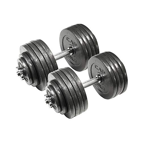 CAP Barbell 200-Pound Adjustable Dumbbell Weight Set, Black