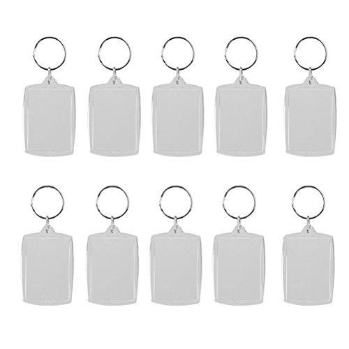 (OULII Blank Photo Keychain Keyring Rectangle 4x5.6cm 10pcs )