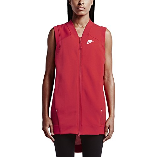 Nike Women's Tech Fleece Mesh Cocoon Sport Casual Vest-Light Crimson-Medium