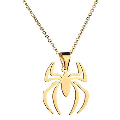 Taibiyang Lightweight Surgical Stainless Steel Spider Pendant Necklace Charm Spider Man Insect Necklace ()