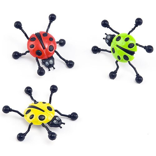 Baker Ross Ladybug Wall Crawlers (Pack of 6) Party Favor Bag Toy for Children's Parties