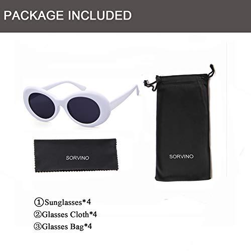 c4a01019f9 SORVINO Sunglasses Unisex Kurt Cobain Glasses Bold Retro Oval Mod Clout  Goggles  Amazon.ca  Clothing   Accessories