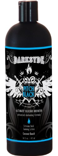 Darksyde Pitch Black Ultimate Silicone Bronzer Tanning Lotion 16oz by Darksyde