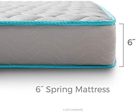 home, kitchen, furniture, bedroom furniture, mattresses, box springs,  mattresses 8 picture LINENSPA 6 Inch Innerspring Mattress - Twin in USA