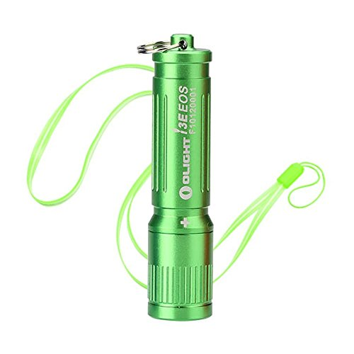 Olight I3E EOS LUXEON TX LED 90 lumens Miniature LED Flashlight Use AAA battery and Skyben Hand Strap Lanyard (Green)