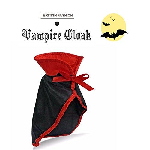 Bat Costumes For Cat (PETLESO Pet Halloween Costume Cat Halloween Hat Cloak (Neck 8.6-10.2