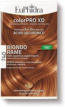 Euphidra Color Pro XD 740 Coloración permanente sin amoniaco, rubio cobre