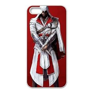 Assassin Creed 2 Person funda iPhone 4 4s caja funda del teléfono celular del teléfono celular blanco cubierta de la caja funda EOKXLKNBC09253