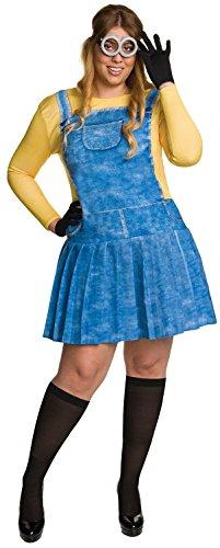 [Rubie's Costume Co - Minions Movie: Female Minion Adult Costume Plus - Plus 1X] (Adult Female Minion Plus Size Costumes)